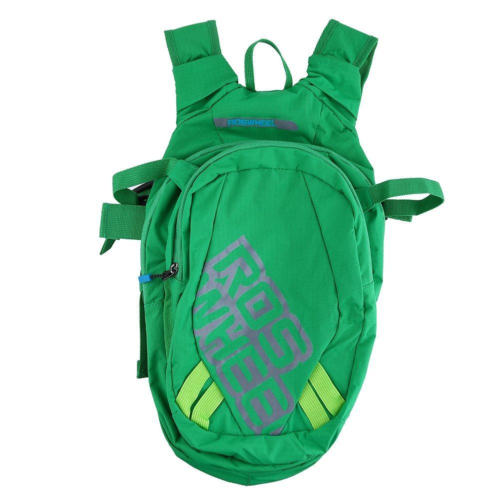 Dilwe ハイキングバックパック 8L アウトドア 通気性 ポータブル 防水 高品質 ナイロン ハイドレーションバックパック サイクリングパック  グリーン B07G25G9NP