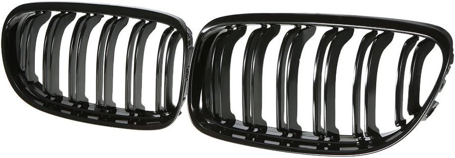 Ricoy Gloss Black Euro Front Center Kidney Grille Grill For 2009-2011 BMW E90 E91 323i 325i 328i 330i 335i 4 Door LCI Facelift