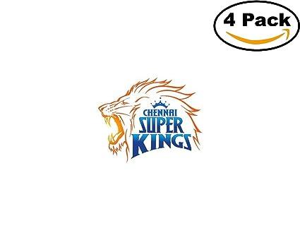 Chennai super kings 4 stickers 4x4 inches car bumper window sticker decal