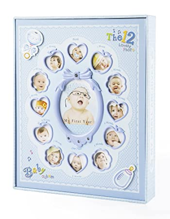 Amazoncom Facraft Baby Boy Photo Album Holds 240 Slots 4x6 Photos