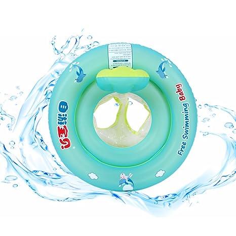 Free Swimming Baby Libre natación bebé diseño de bebé asiento barco flotador inflable con antivuelco redondo