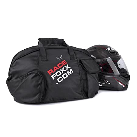 RACEFOXX Helmtasche mit flauschiger Fütterung und Visierfach