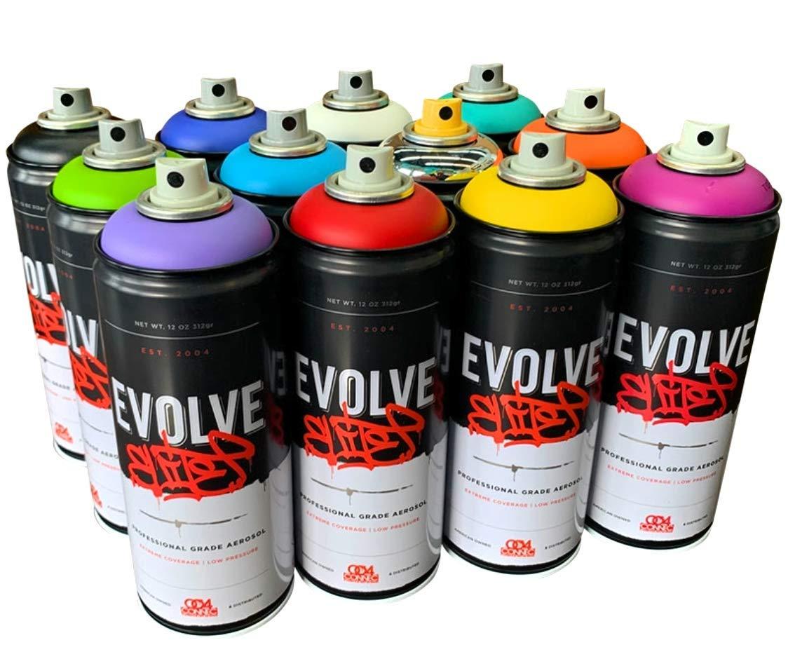 Evolve Elite12 Pack, MTN, Montana, Belton & Molotow & Ironlak Spray Paint by EvolveElite