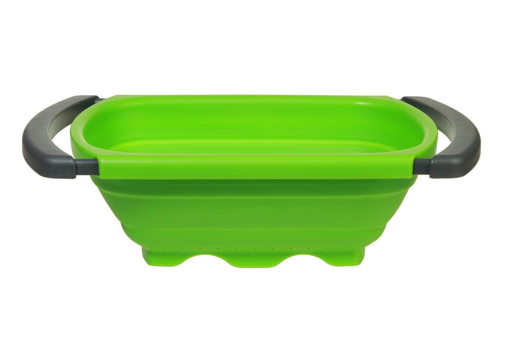Prepworks by Progressive Collapsible Over-the -Sink Colander, Green - 6 Quart (CC-130)
