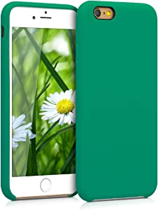 kwmobile TPU Silicone Case Compatible with Apple iPhone 6 / 6S - Soft Flexible Rubber Protective Cover - Emerald Green