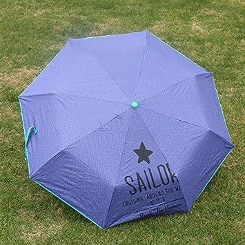 CWAIXX Super reforzado paraguas UV plegable lluvia o doble uso paraguas paraguas hombres y de mujeres