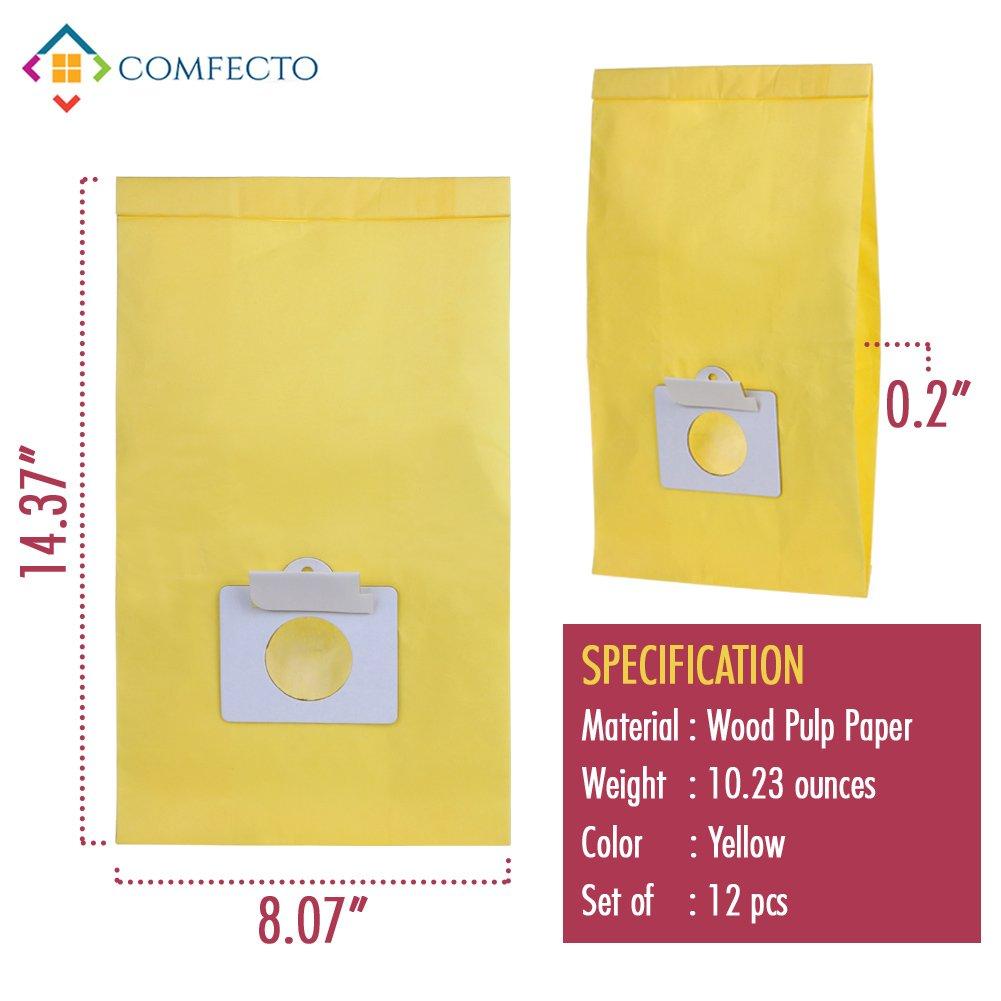 Set of 12 Anti-bacterial Hypoallergenic Premium Vacuum Bags for Kenmore Canister Type C, Panasonic Type C5, 50558 50557 5055 Vacuum Cleaner, Eco-friendly Wood Pulp Paper by King Vacuum Bags (Image #6)