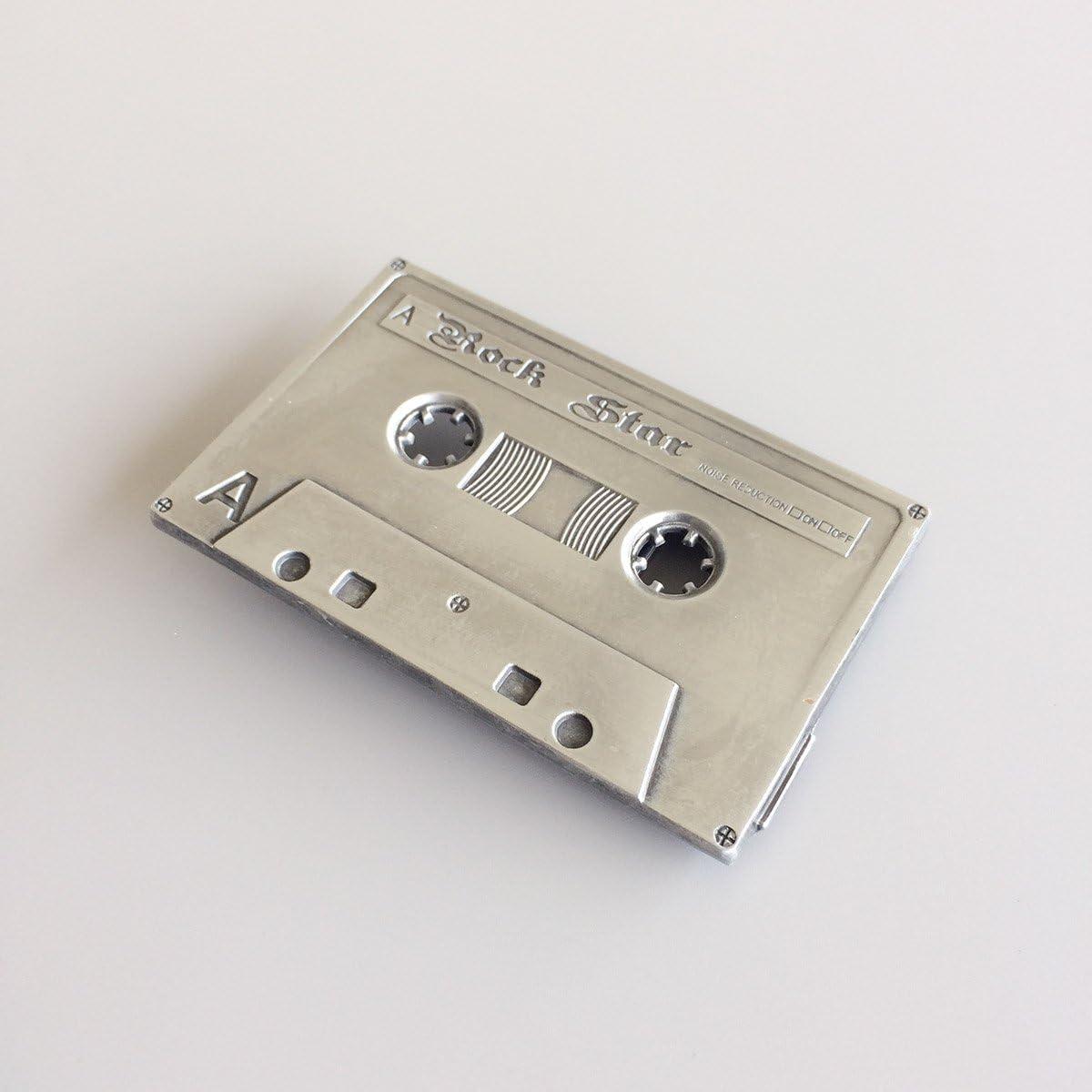 New Vintage Cassette Tape Music Belt Buckle Boucle de ceinture