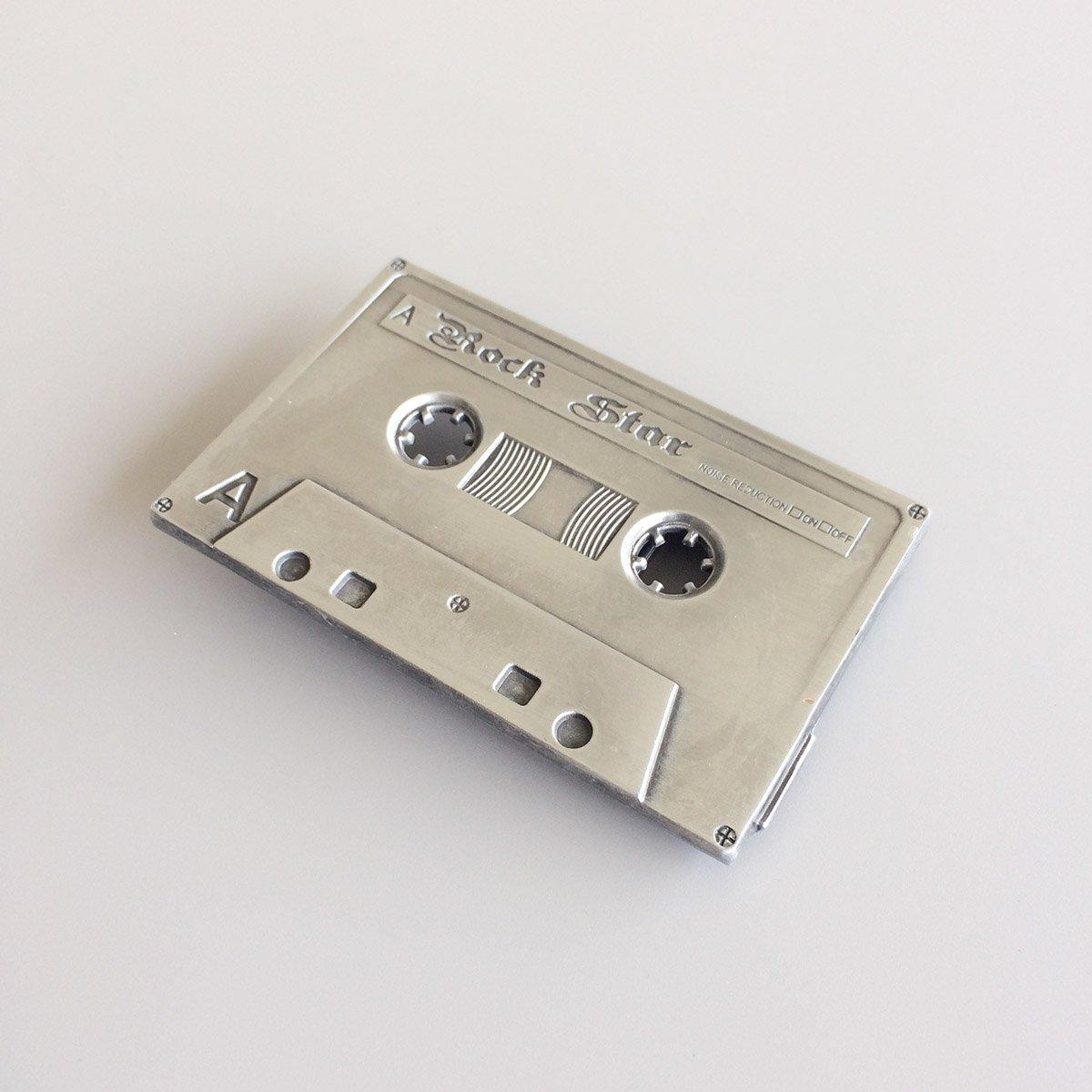 Vintage Rock Cassette Tape Music Belt Buckle also Stock in US