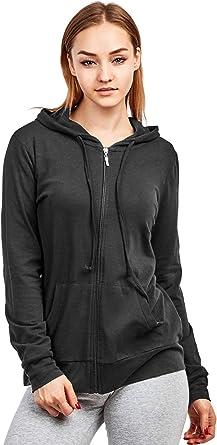 Women's Zip Up Cotton Light Hoodie Jacket
