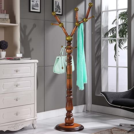 Amazon.com: XIAOLIN - Perchero de madera maciza para ...