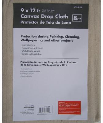 Premium 8-3/4 ft. x 11-3/4 ft. Canvas Drop Cloth-633792 - The Home Depot