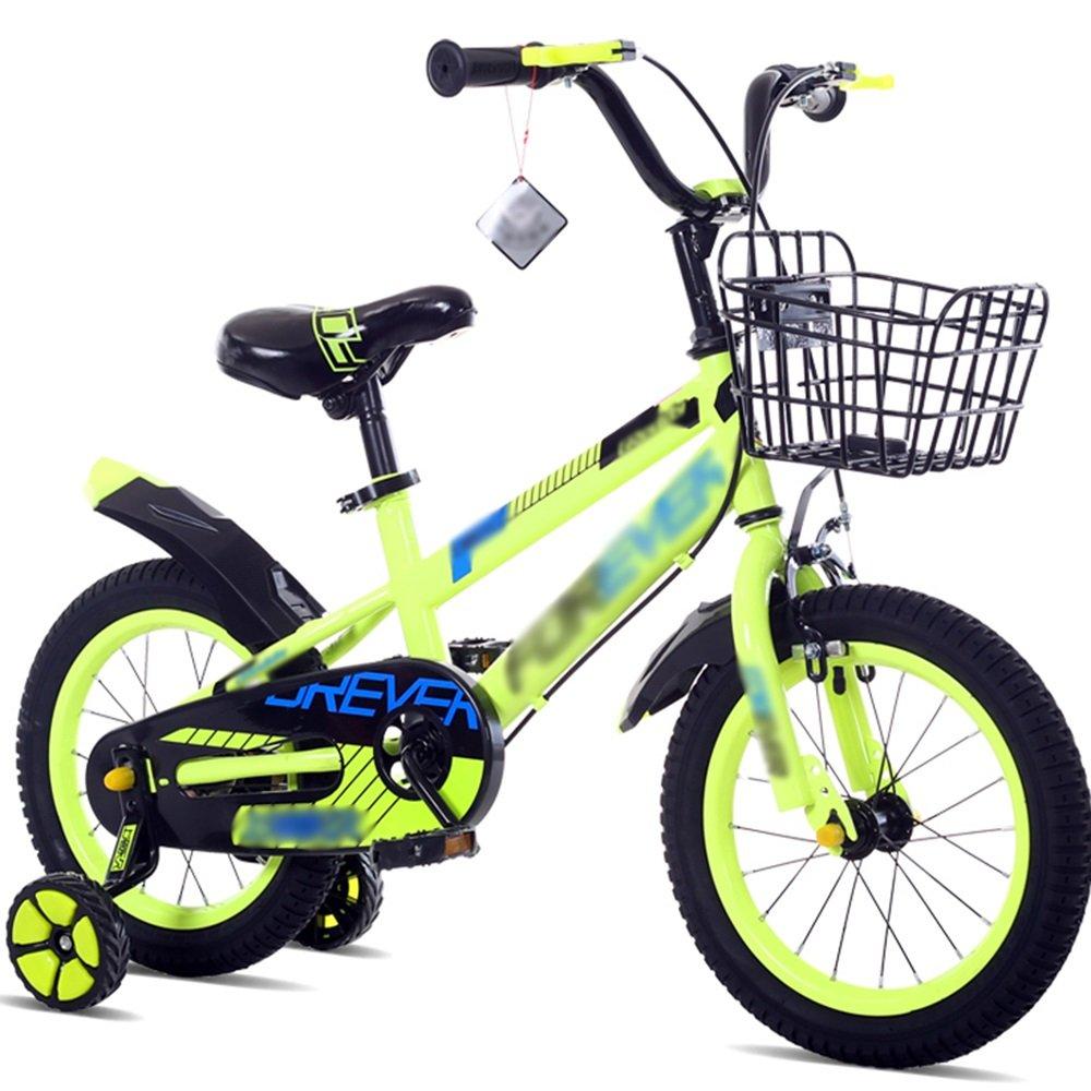 FEIFEI 子供用自転車ベビーキャリッジ12/14/16/18インチマウンテンバイク高炭素鋼材青緑色レッドセキュリティファッション B07CRN9C27 12 inch|緑 緑 12 inch