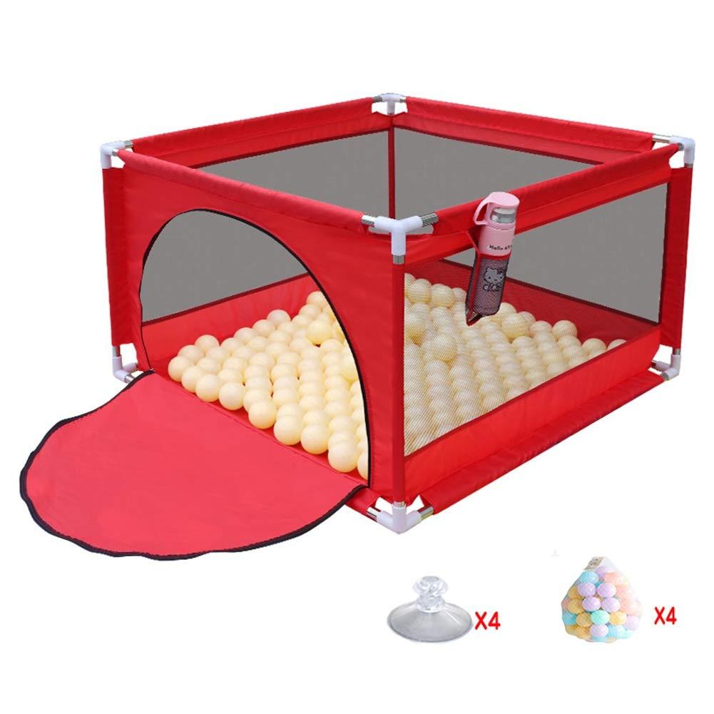 【お気に入り】 ベビーサークル, 200ボールの携帯用プラスチックベビーサークル、幼児/乳児用安全多用途プレイヤード - 105×105×66cm (色 (色 : Red) Red) Red Red B07PJP9JMB, クリスタルアイ:15d58caa --- a0267596.xsph.ru
