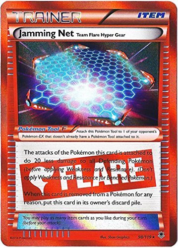 Pokemon Jamming Net Trainer Card Xy Phantom Forces 98/119