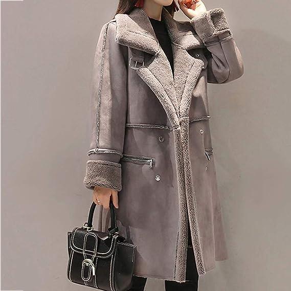 Manteau Femme,Xinantime Revers en Fausse Fourrure Pour