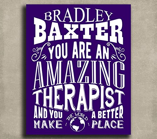 Amazing Therapist Custom Plaque Tin Sign - Physical Therapy Poster Shopping Results