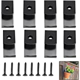 """Sumnacon Flower Pot Clips, 8 Pcs Hard Steel Durable Plant Pot Latch Hangers Hook, Holds 5"""" to 8"""" Clay PotS, Terra Cotta Pots with A Lip Around The Edge (Black)"""