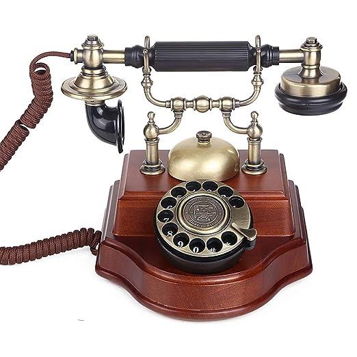 ZXL Teléfono: Antiguo, Vintage, Madera Maciza, clásico, Antiguo ...