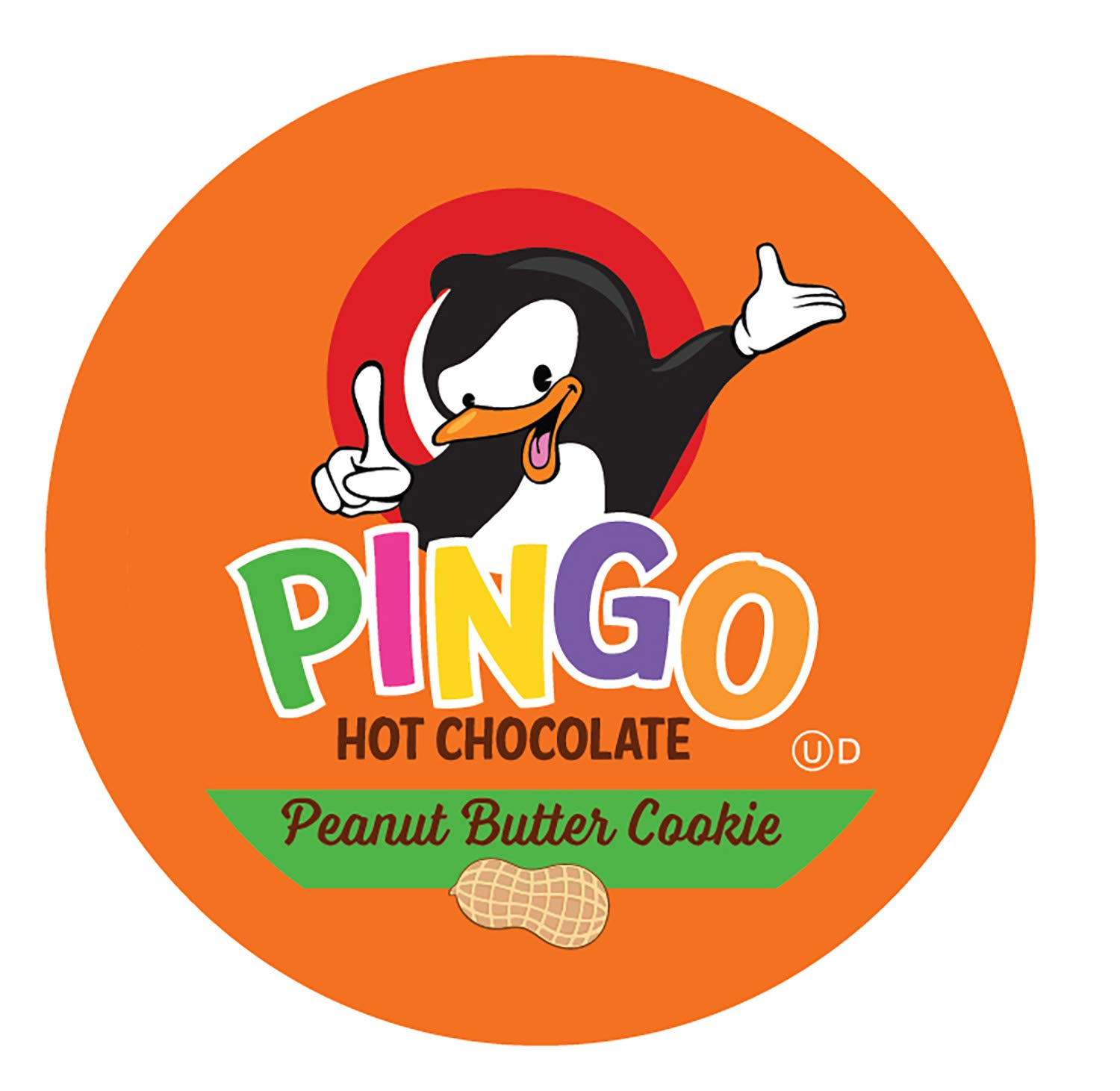 Pingo Single-Cup Hot Cocoa for Keurig K-Cup Brewers, Peanut Butter Cookie, 24 Count (Pack of 4)