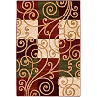 NEW Summit Elite S 64 Geometric Contemporary Area Rug Swirls Scrolls Area Rug (22inch x 35 Scatter Rug Door Mat Size)