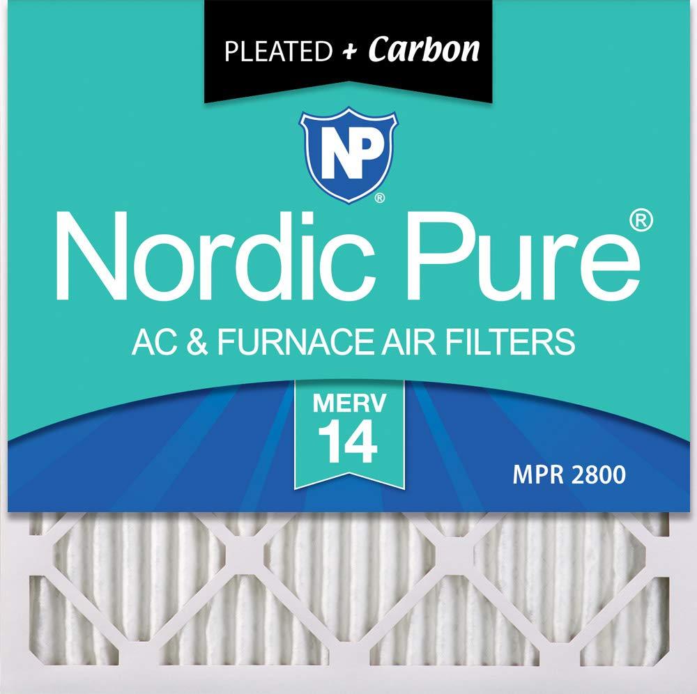 ノルディックピュア14x14x1M14 + C-2 14x14x1 Merv 14 PlusカーボンAC炉フィルター数量2   B06XYWLNCB