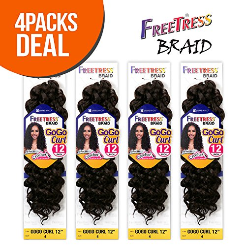 FreeTress Synthetic Crochet Braids 4 Pack product image