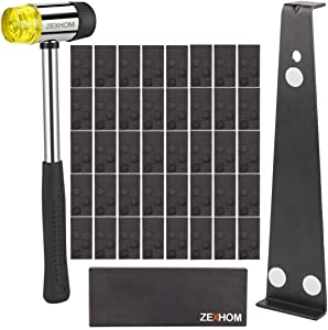 ZEXHOM Professional Laminate Wood Flooring Installation Kit with 40 Spacers, Upgraded Tapping Block, Widen Pull Bar and Heavy Duty Mallet