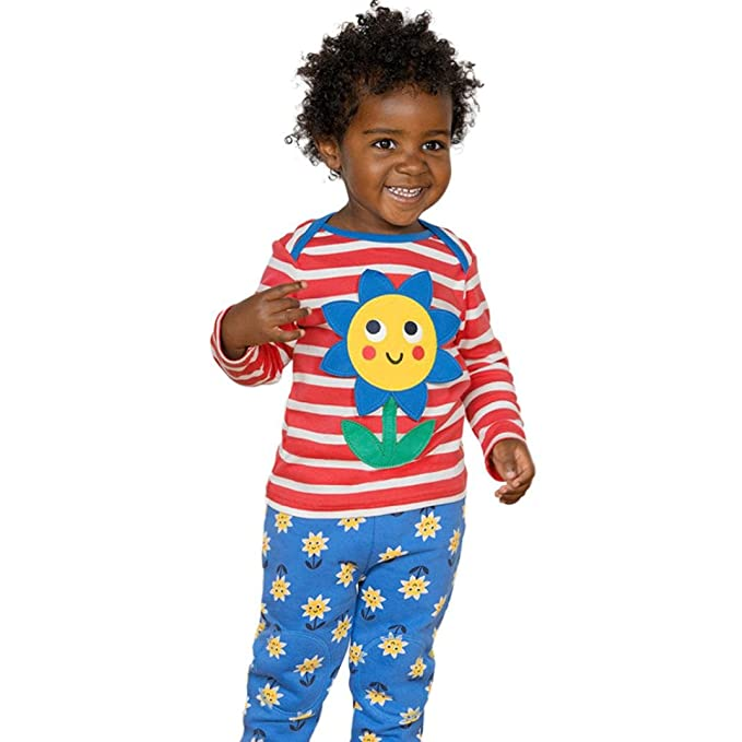 Yannerr Bebé niña niño manga larga Dibujos Flores Rayas camiseta tops, Chica primavera Inferior blusa