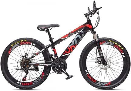 Zonix Bicicleta Niños Niñas MTB 20 Pulgadas 21 Velocidad Negro ...