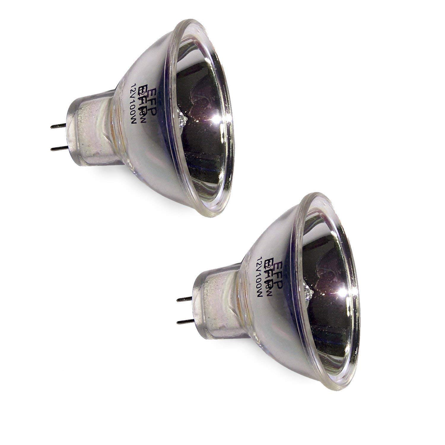 BORYLI EFP 12V 100W GZ6.35 Halogen Bulbs Pack of 2