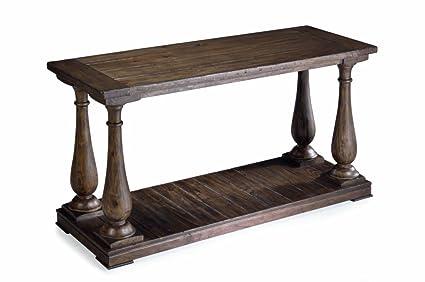 Superbe Magnussen T1695 73 Densbury Natural Pine Finish Wood Sofa Table