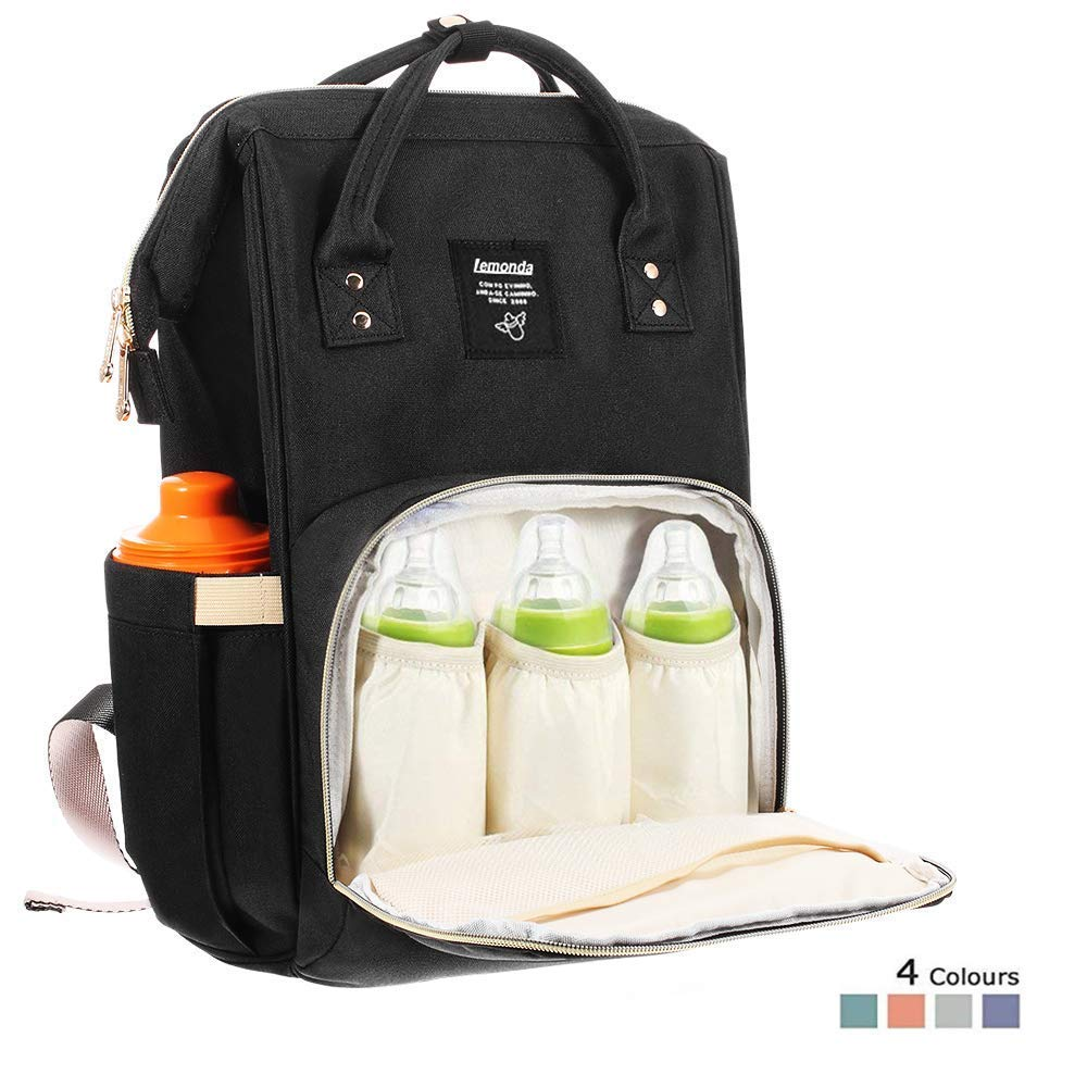 cc23db7ee6d3 Lemonda Multi-Function Waterproof Diaper Bag Travel Backpack Nappy Bags for  Baby Care