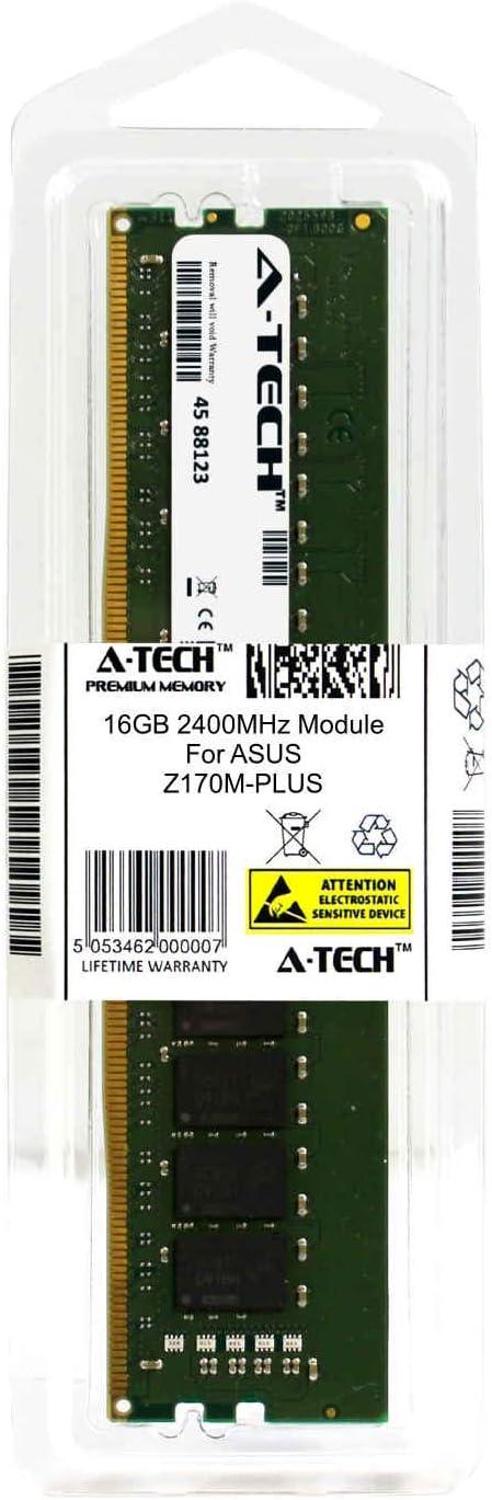 A-Tech 16GB Module for ASUS Z170M-PLUS Desktop /& Workstation Motherboard Compatible DDR4 2400Mhz Memory Ram ATMS394541A25822X1