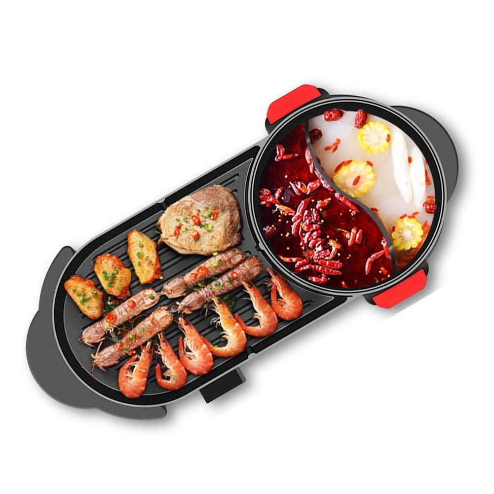 Atten BBQ Hot Pot One Pot Large Capacity Non-stick Cooking Barbecue Fried Meat