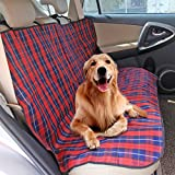 Speedy Pet Dog Car Seat Cover Protector, Red Plaid Oxford Waterproof Scratch Proof Pet Seat Covers Mat for Cars, SUV Backseat For Sale