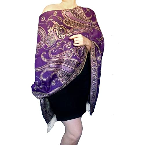 6f32781c6ff Amazon.com  Plus Size Evening Wrap Gold And Purple Wedding Shawl Mother Of  The Bride Dress Wrap By ZiiCi  Handmade