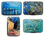 FINE ART Armored Credit Card RFID Blocking Wallet and Cash Holder, Set of 4 Styles