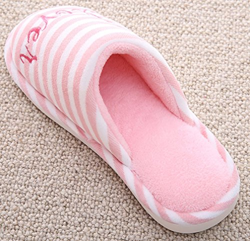 Cattior Mujeres Soft Warm Cute Spa Slippers Pantuflas De Mujer Rosa