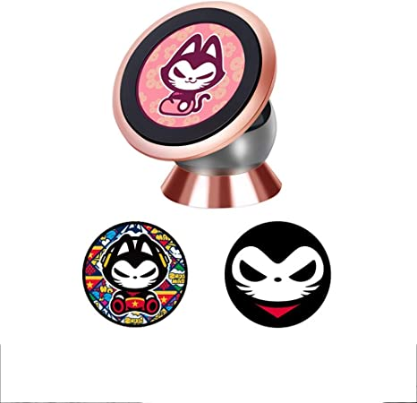 Renleinb Car Phone Mount Silver Pink Gold Aluminum Silicone Seamless Paste 360 Adjustable Clamp Color Pink Amazon Co Uk Kitchen Home