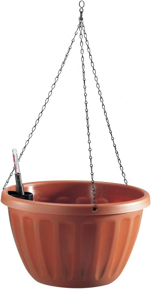 Ampel CASA FLOR h/ängend aus Kunststoff in terracotta Durchmesser:25 cm