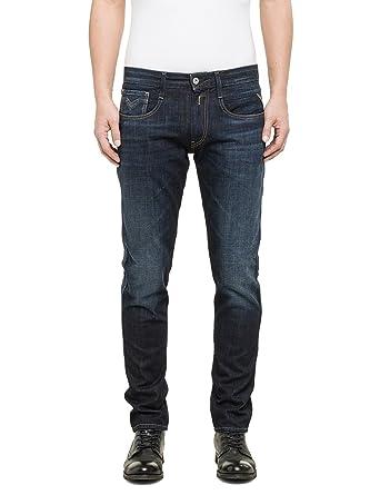 Replay Herren Slim Jeanshose Anbass  Amazon.de  Bekleidung e590d398d0
