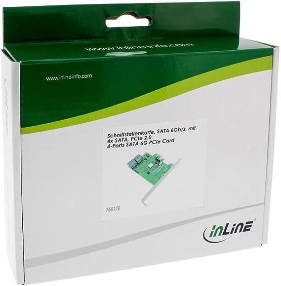 Inline 76617e Schnittstellenkarte 4x Sata 6gb Computer Zubehör