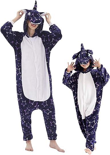 URMOSTIN Unicornio Pijamas con Capucha de UnaPieza para Adultos ...