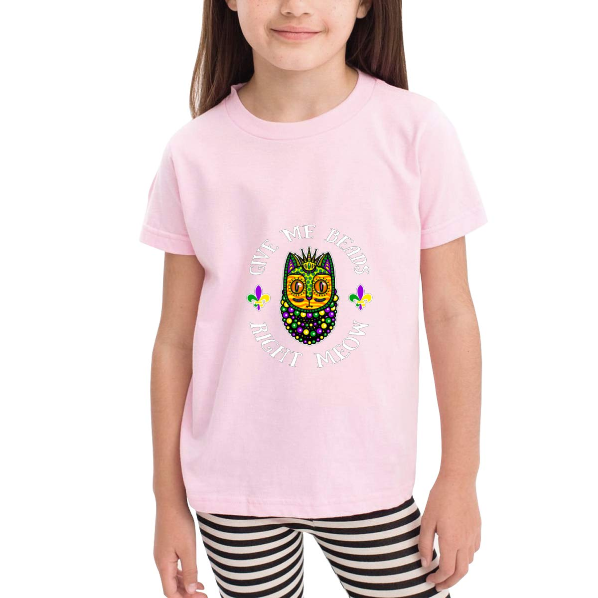 Onlybabycare Give Me Beads Right Meow 100/% Cotton Toddler Baby Boys Girls Kids Short Sleeve T Shirt Top Tee Clothes 2-6 T