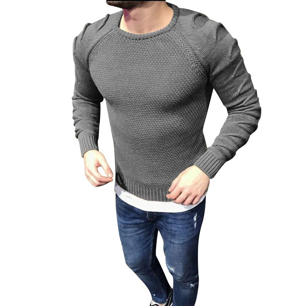 Men's O Neck Knitted Pullover Sweater Jacket Long Sleeve Slim fit Tops PASATO New Hot!