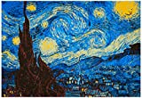 8-Bit Art The Starry Night Poster 19 x 13in