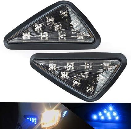 indicadores de direcci/ón universales para motocicleta 4 pcs intermitentes moto,indicador de se/ñal direccional en dos colores amarillo y azul