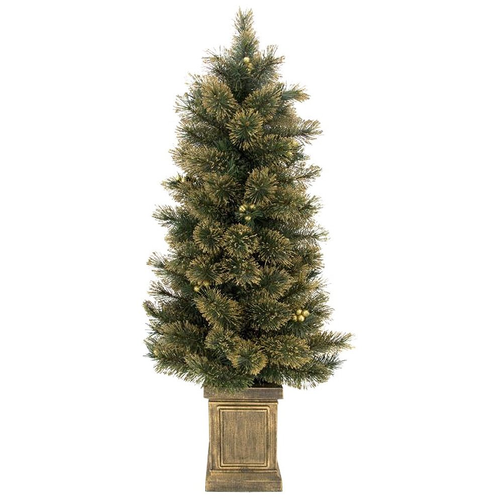 Mark Roberts Christmas Trees- 4FT Gold Glitter Tree in Gold Base