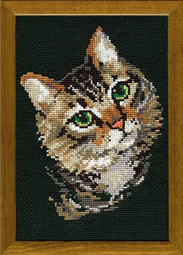 RIOLIS 766 - Grey Cat - Cross Stitch Kit 8